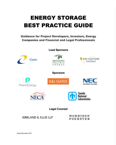 ACES Energy Storage Best Practice Guide cover