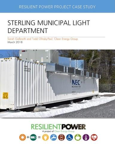 案例研究:斯特林市政照明部门的封面图片。