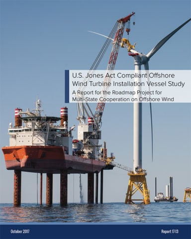 U.S. Jones Act Compliant Offshore Wind Turbine Installation Vessel Study cover